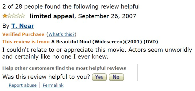 1-star-reviews-of-best-picture-winners a-beautiful-mind-amazon-review