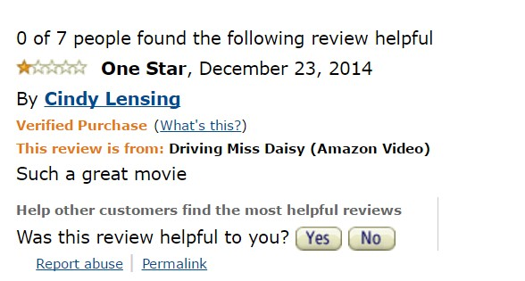 1-star-reviews-of-best-picture-winners driving-miss-daisy-amazon-review
