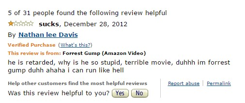 1-star-reviews-of-best-picture-winners forrest-gump-amazon-review1