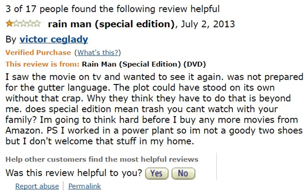 1-star-reviews-of-best-picture-winners rain-man-amazon-review1