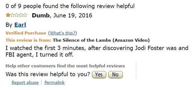 1-star-reviews-of-best-picture-winners silence-of-the-lambs-amazon-review