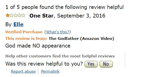1-star-reviews-of-best-picture-winners the-godfather-amazon-review