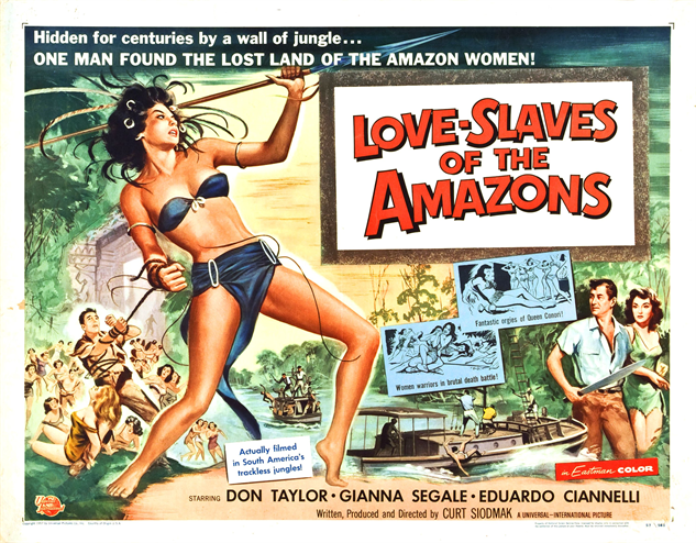 100-b-movie-posters love-slaves-of-the-amazons-1957