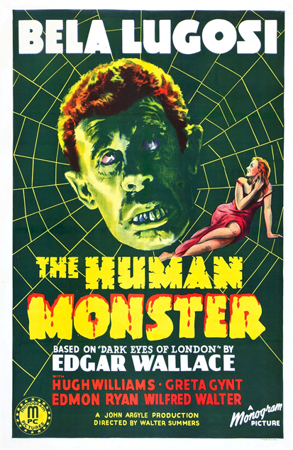 100-b-movie-posters the-human-monster-1940