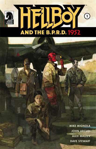 100besthellboycovers hellboy-and-the-bprd-1952--1-cover-art-by-alex-maleev