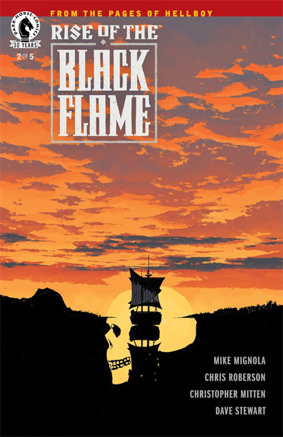 100besthellboycovers rise-of-the-black-flame--2-cover-art-by-laurence-campbell