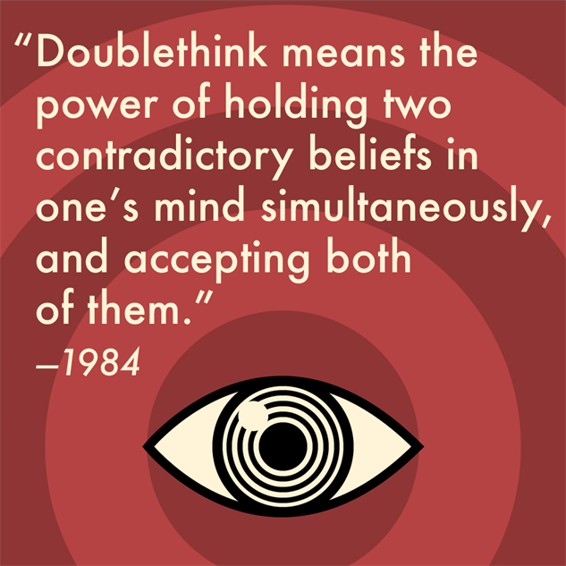 doublethink 1984 examples