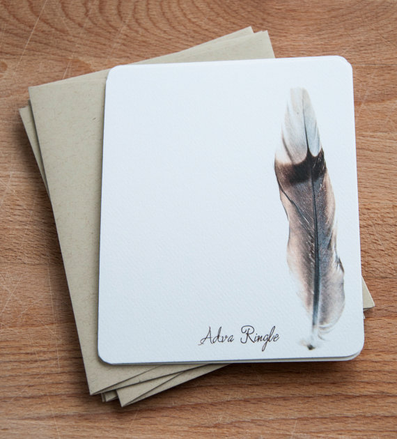 50-best-bespoke-stationery feather