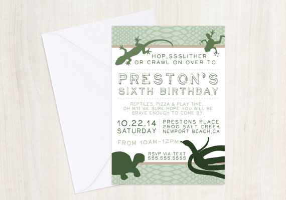 50 of The Best Designed Party Invitations Design Galleries – Reptile Invitations Birthday