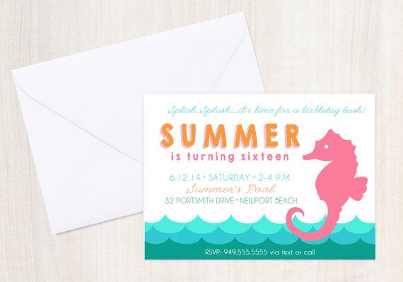 50 Best Even Invites Seahorse