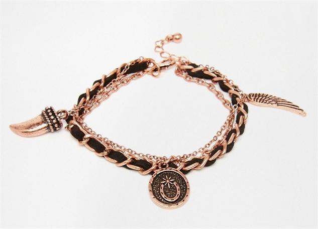 adult-charm-bracelets black