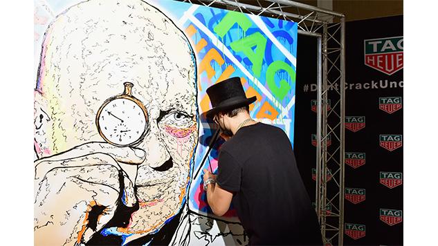 art-basel-roundup eugene-gologursky---alec-monopoly---tag-heuer-art-provocateu