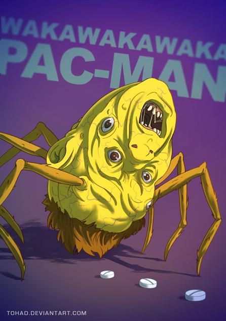 badass-cartoons pacman-by-tohad-d7prj9y