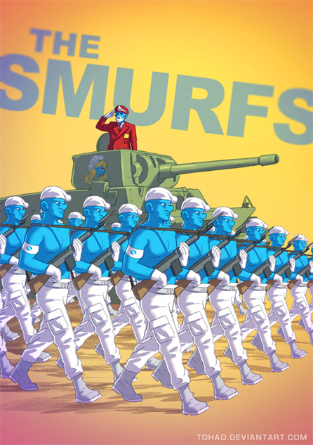 badass-cartoons smurfs-by-tohad-d738im7