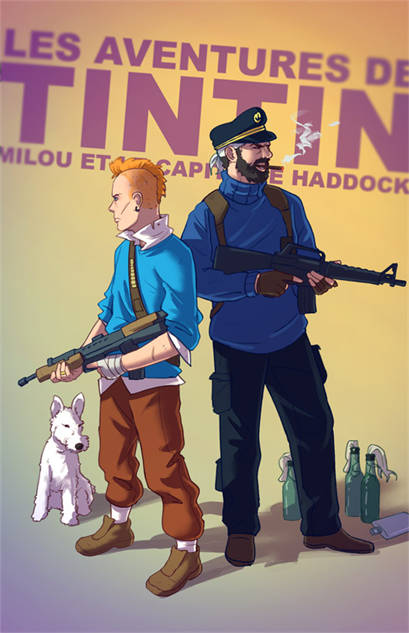 badass-cartoons tintin-by-tohad-d6ymzci