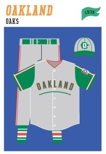 baseball-uniforms oakland-oaks-1939