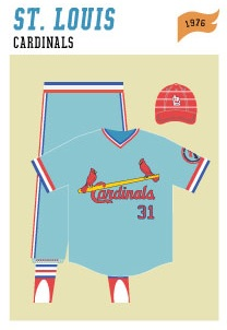 baseball-uniforms st-louis-cardinals-1976