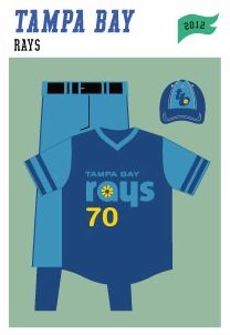 baseball-uniforms tampa-rays-2012
