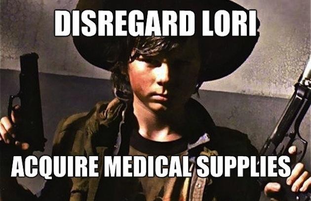 best-walking-dead-memes paste-walking-dead-carl-medical-supplies