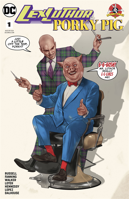 bestcomiccoversaugust2018 lex-luthor-porky-pig-special--1-cover-art-by-ben-oliver