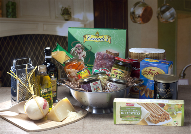 9 outrageous food and wine gift baskets food for Italian kitchen gifts