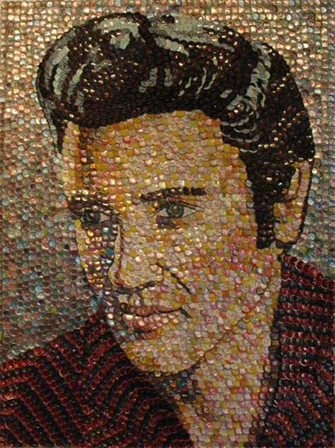 bottle-cap-portraits- elvis
