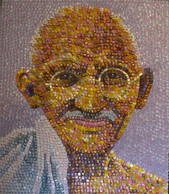 bottle-cap-portraits- gandhi-785x896