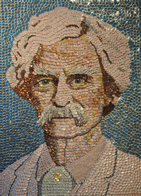 bottle-cap-portraits- mark-twain-bottle-cap-portrait