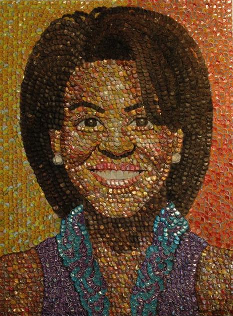 bottle-cap-portraits- michelle-obama-bottle-caps-757x1024