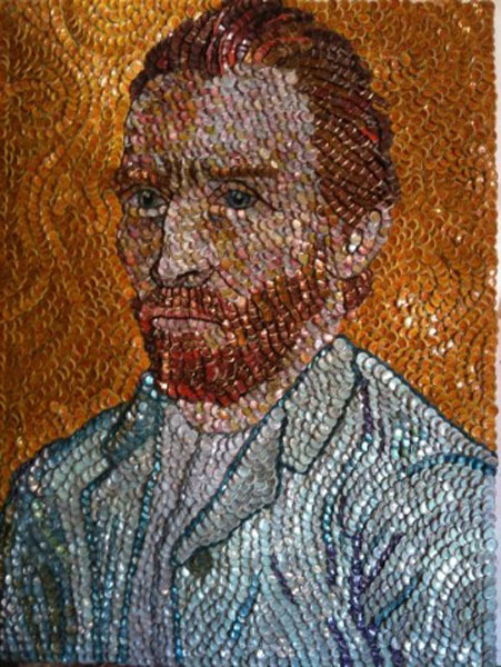 bottle-cap-portraits- vincentvangogh