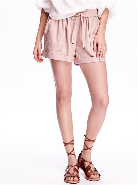 breezy-linen-shorts pink