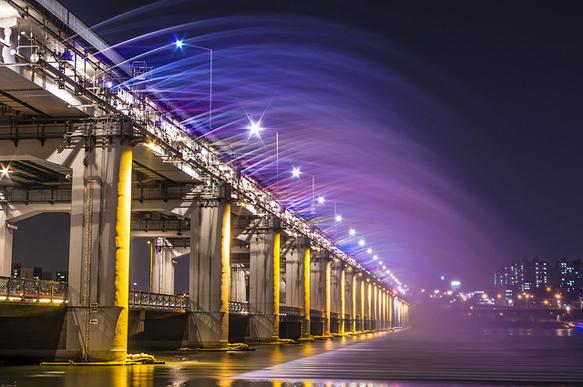 bridges banpo-bridge-fountain-seoul