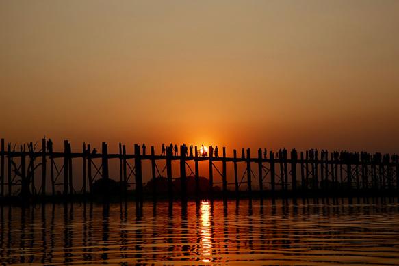 bridges u-bein-bridge-myanmar-