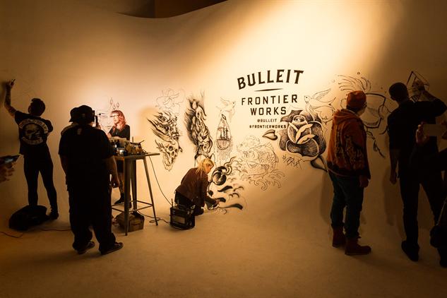 bulleit-tattoos bulleit-frontier-works-airbrush-tattoo-wall