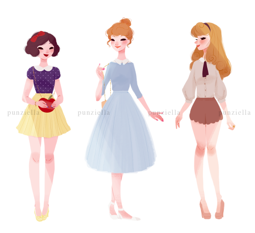 Disney Princesses Get Casual in Artist's Series :: Design ...