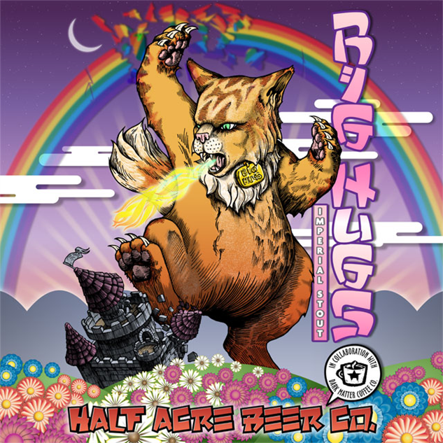 Bad Ass Cats On Beer Labels Paste