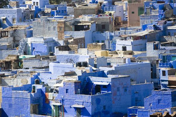colorful-cities jodhpur-india-blue