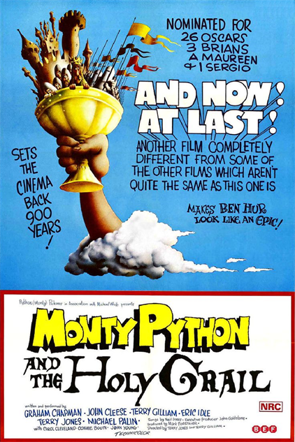 comedian-directorial-debuts monty-python-holy-grail-poster
