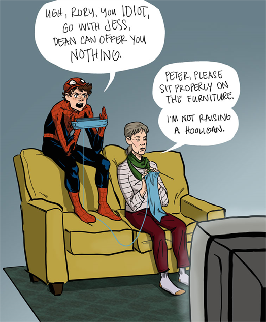 comicsdissent peter-parker-tv