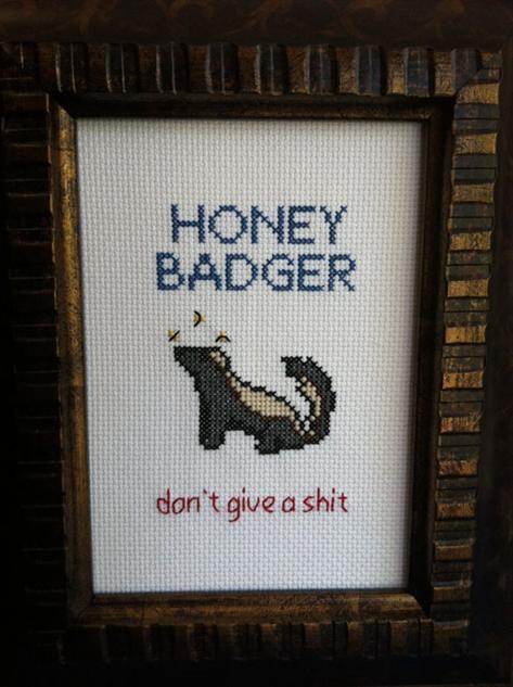 cross-stitch 13-honey-badger