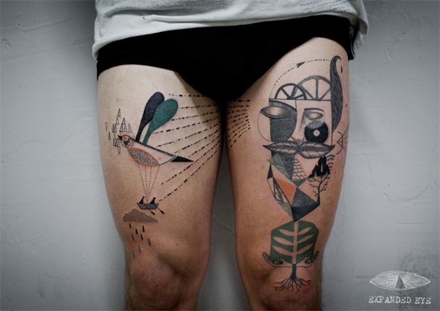 Your Life S Story Told In Cubist Tattoos Design Galleries Paste