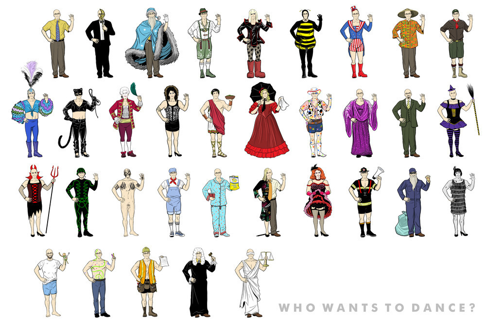 This Poster Has Every Costume Worn by <i>Community</i>'s Dean Pelton
