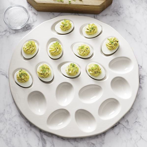 ... Deviled Egg Platters Crate Barrel