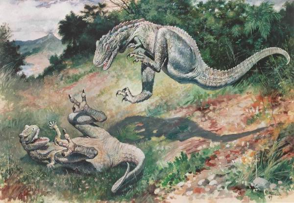 dinosaur-paleoart leaping-laelaps