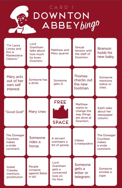 Downton Abbey Bingo :: TV :: Downton Abbey :: Paste