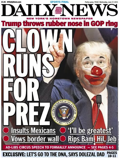 election-magazine-covers daily-news-clown