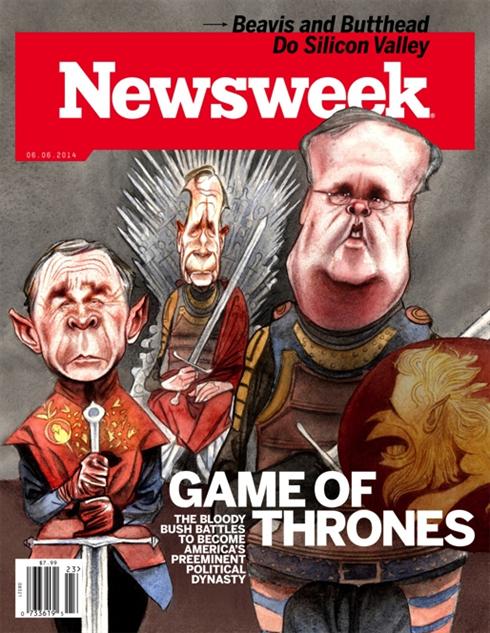 election-magazine-covers newsweek-bushes