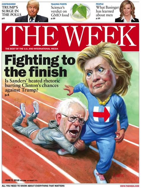 election-magazine-covers week-bernie-fighting