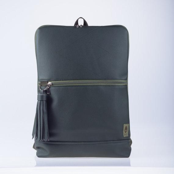 etsy-vegan-leather backpack