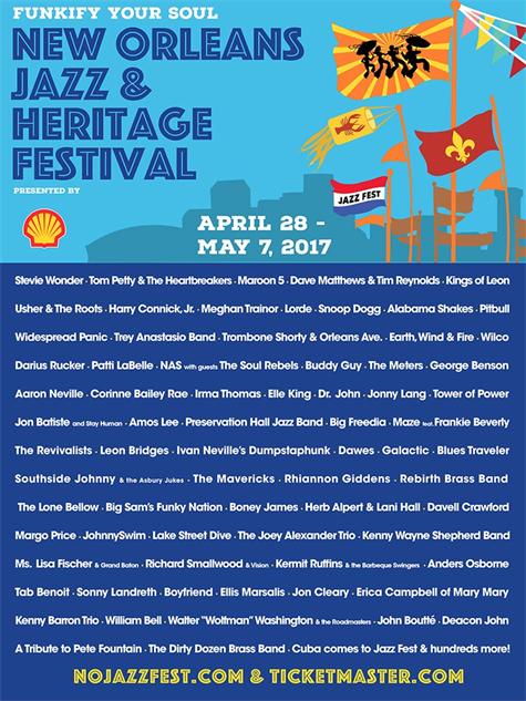 every-2017-festival-poster-so-far- new-orleans-jazz-fest-2017-lineup-poster